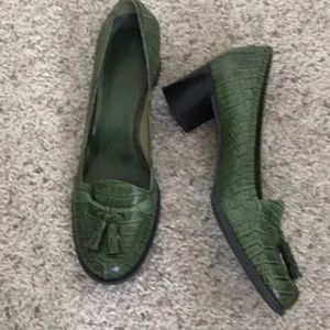 Green Leather Shoe